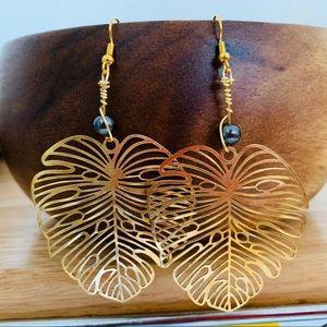 Jewelry - TAHITIAN BLACK PEARL EARRINGS🌴